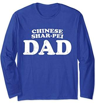 Chinese Shar-Pei Dad Dog Father Cute Pet Distressed T-Shirt