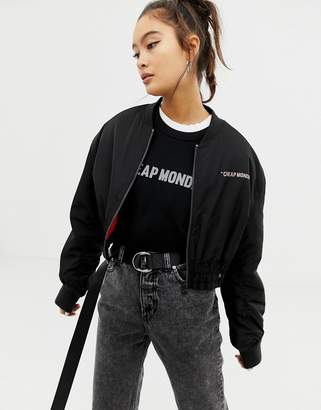 Cheap Monday recycled polyester crop jacket