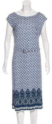Tory Burch Floral Print Midi Dress