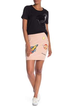 Love Moschino Space Patchwork Skirt