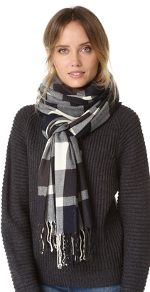 Plush Ultra Soft Plaid Scarf $84 thestylecure.com