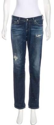 Adriano Goldschmied Mid-Rise Stilt Cigarette Leg Jeans