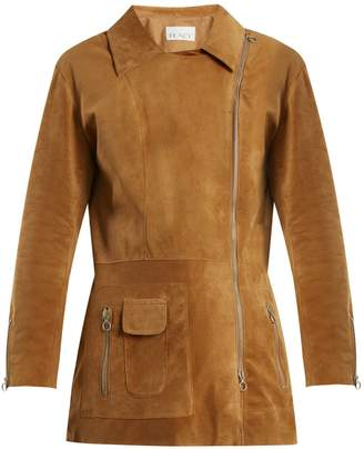 Raey Long-line suede biker jacket