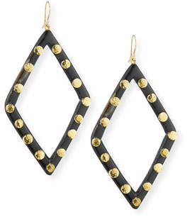 Ashley Pittman Mila Dark Horn Drop Earrings