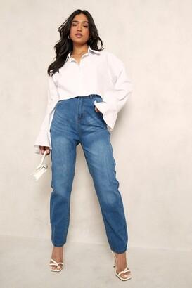 boohoo Petite High Rise Mom Jeans