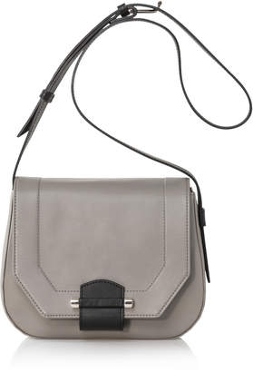 Joanna Maxham Enigma Grey Italian Leather Shoulder Bag