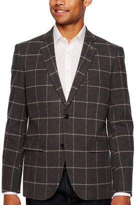 U.S. Polo Assn. Gray Windowpane Slim Fit Sport Coat