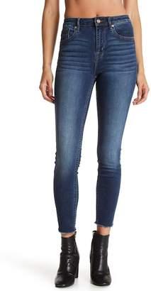 Vigoss Chelsea High Rise Raw Hem Cropped Skinny Jeans