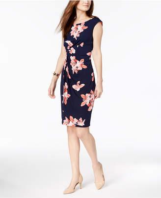 Connected Petite Floral-Print Wrap Dress