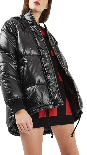 TopshopWomen's Topshop Julia Plastic Look Puffer Jacket