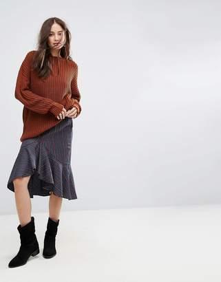 Moon River Asymmetric Midi Skirt