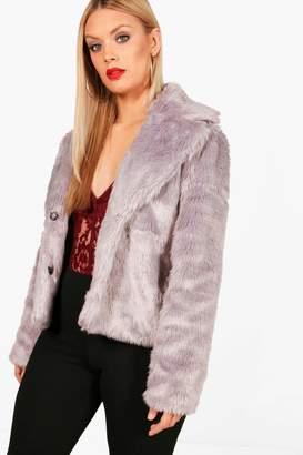 boohoo Plus Eliza Faux Fur Coat
