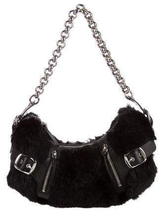 DKNY Fur Shoulder Bag