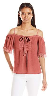 My Michelle Junior's Cold Shoulder Top with Crochet