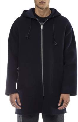 Marni Navy Wool Montgomery