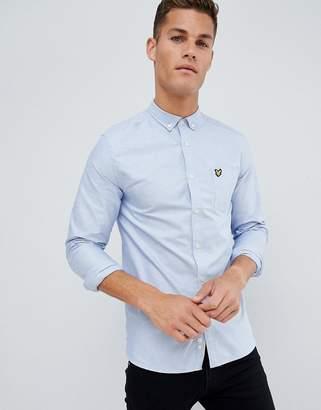 Lyle & Scott oxford shirt buttondown regular fit eagle logo in light blue