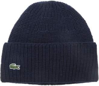 Lacoste Men's Classic Pure Wool Cardigan Rib Knit Cap