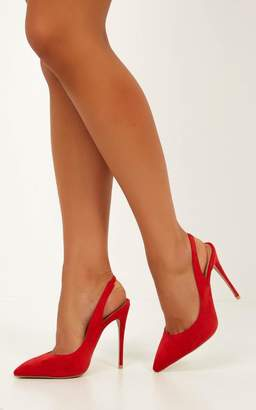 Showpo Billini - Renya heels in red micro - 7 Billini