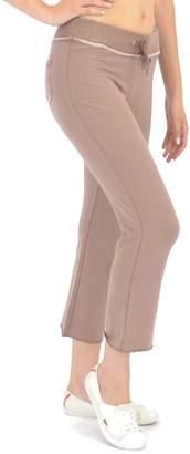 Elita Bamboo Cropped Lounge Pants in Hot Chocolate