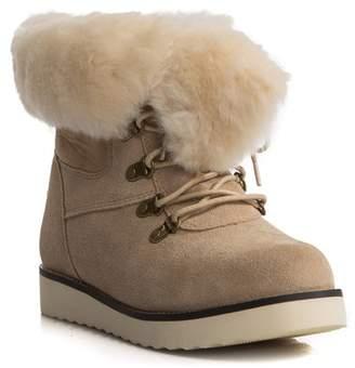 Australia Luxe Collective Yael Genuine Sheepskin Fur Foldover Shaft Boot