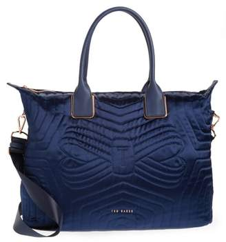 Ted Baker Quilted Bow Large Nylon Tote