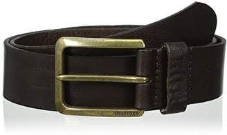 Tommy Hilfiger Men's Casual Belt With Brass Finish Buckle