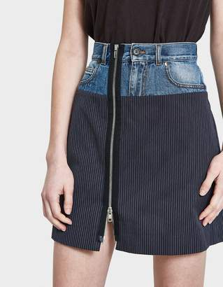 Maison Margiela Pinstripe Cotton Skirt