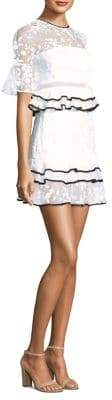 Three floor Florentine Lace Ruffle Dress