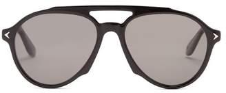 Givenchy - Aviator Frame Acetate Sunglasses - Mens - Black