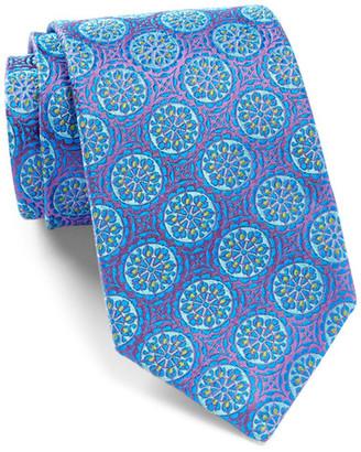 ROBERT TALBOTT Estate Medallion Silk Tie $195 thestylecure.com