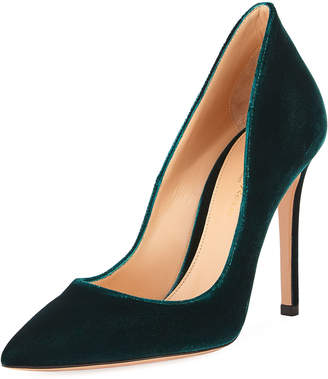 Gianvito Rossi Ellipsis Velvet High-Collar 105mm Pump