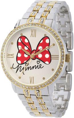 DISNEY Disney Womens Two-Tone Bow Bracelet Watch $69.99 thestylecure.com