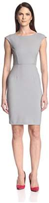 Society New York Women's Scoop Neck Cap Sleeve Dress