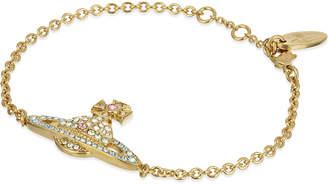 Vivienne Westwood Yellow Gold Orb Design Kika Pavé Bracelet