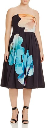 City Chic Floral Print Strapless Dress $149 thestylecure.com