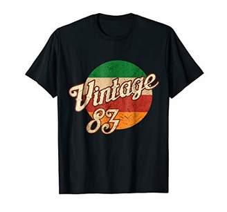 Vintage T-shirt Born in 1983 Retro 35th Birthday Gift