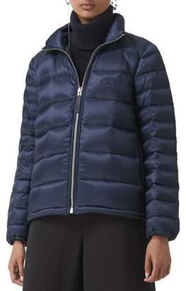 Burberry Zip-Front Short Puffer Coat