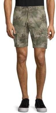 Slate & Stone Novelty Ross Tropical-Print Cotton Cargo Shorts