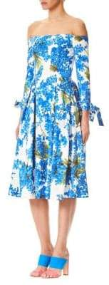 Carolina Herrera Off-The-Shoulder Floral Dress