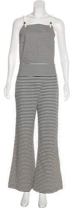 Max Mara Striped Wide-Leg Jumpsuit