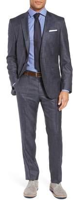 BOSS Huge/Genius Trim Fit Wool & Silk Suit