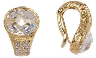 Judith Ripka Gold Plated Sterling Silver CZ Earrings