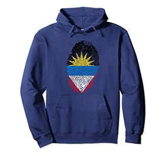 Antigua Flag Fingerprint Hoodie - Hooded Sweatshirt