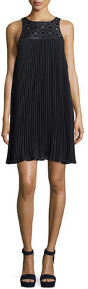 Trina Turk Sleeveless Pleated Shift Dress, Black $238 thestylecure.com