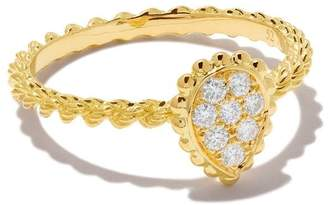Boucheron 18kt yellow gold Diamond Serpent Bohème XS ring