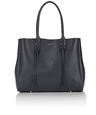 Lanvin Women's Tasseled-Handle Small Shopper Tote-GREY $1,550 thestylecure.com