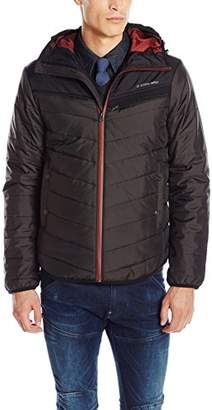 G Star Men's Attacc Hooded Quilted Overshirt Jacket