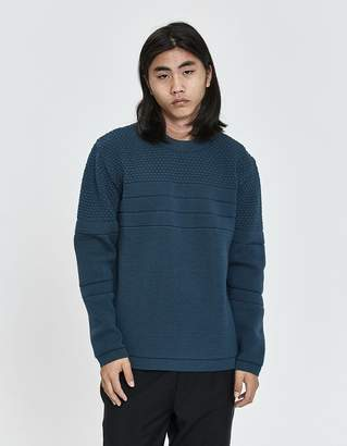 S.N.S. Herning Mentor Crewneck Sweater in Architect Blue