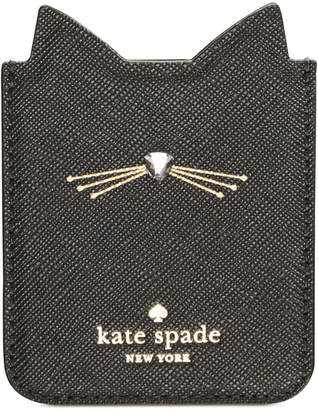 Kate Spade Embellished Cat Sticker Phone Pocket