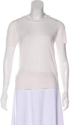 Tory Burch Cashmere Short Sleeve Top